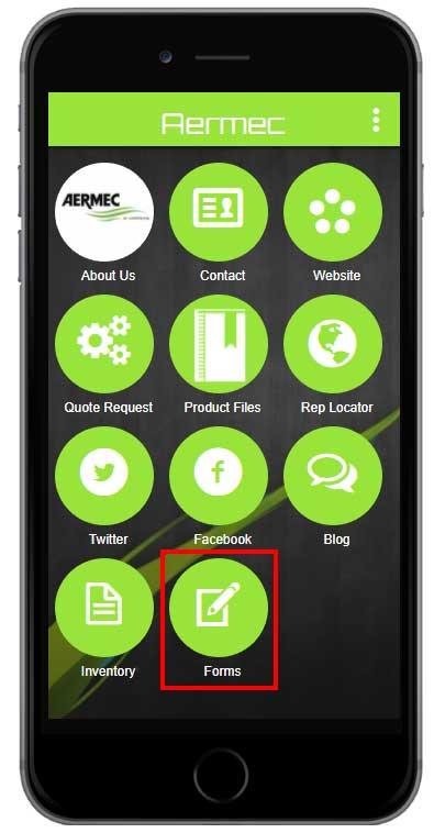 Aermec App Forms Feature
